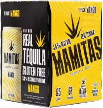 Mamitas Mango Tequila Soda 4pk 12oz Can
