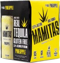 Mamitas Pineapple Tequila Soda 4pk 12oz Can