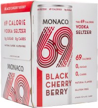 Monaco 69 Calorie Cherry Berry Cocktail 4pk 12oz Can
