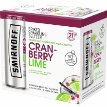 Smirnoff Spiked Sparkling Seltzer Cranberry Lime 6pk 12oz Can