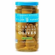 Tillen Farms Garlic Jalapeno Olives 12oz
