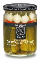 Sable and Rosenfeld Tipsy Garlic & Dill Cocktail Stirrers 16oz