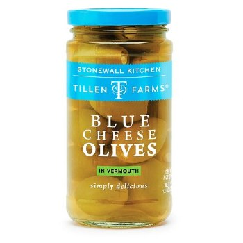 Tillen Farms Blue Cheese Olives in Vermouth 12oz
