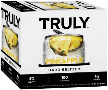 Truly Pineapple Hard Seltzer 6pk 12oz Can