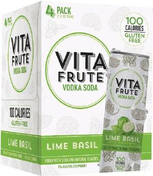 Vita Frute Lime Basil Vodka Soda 4pk 12oz Can
