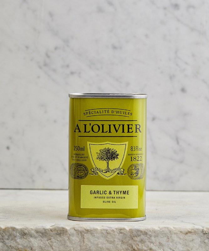 A L'Olivier Garlic & Thyme Olive Oil, 250ml