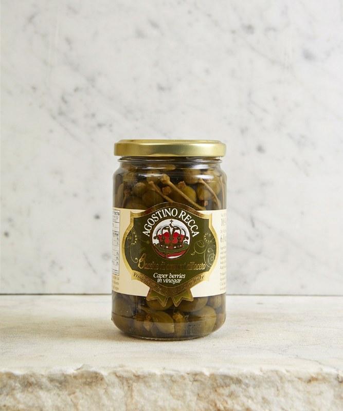 Agostino Recca Caperberries, 490g