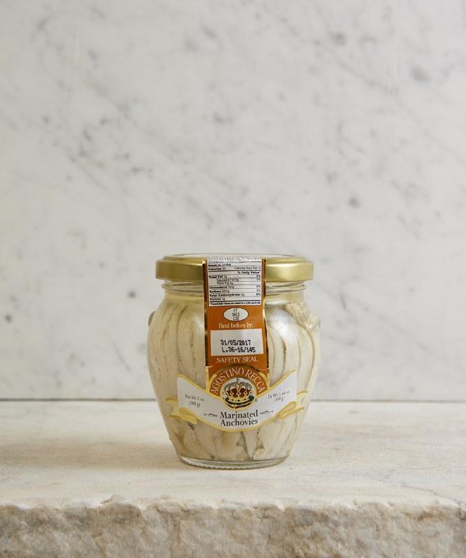 Agostino Recca White Anchovies, 200g