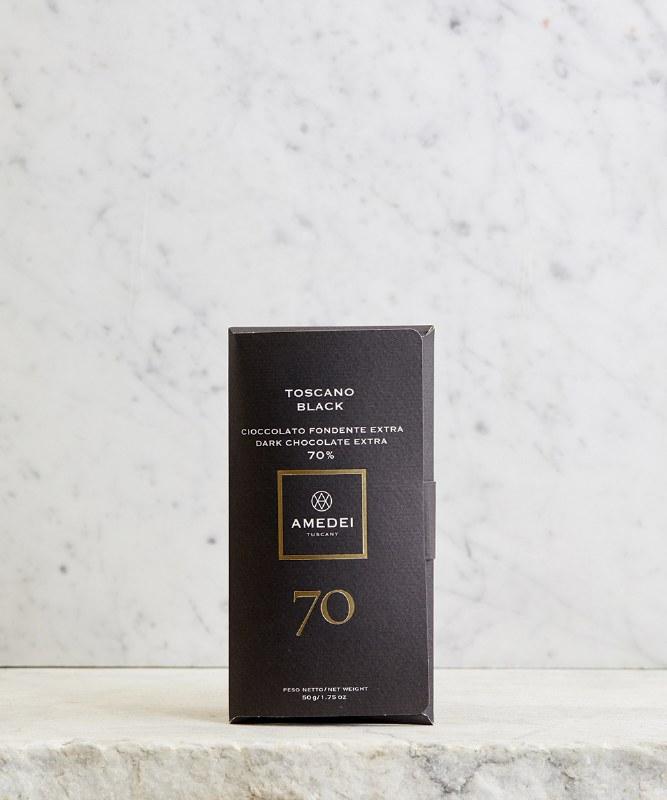 Amedei Toscano Black 70% Dark Chocolate, 50g