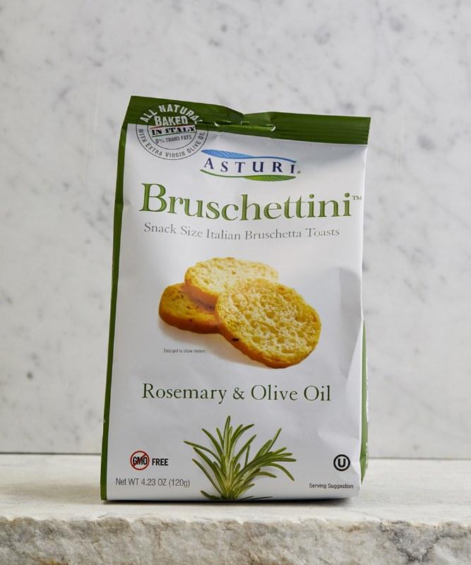 Asturi Rosemary & Olive Oil Bruschettini, 120g