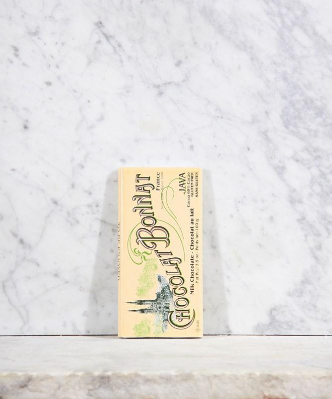 Bonnat 65% Java Milk Chocolate Bar, 100g