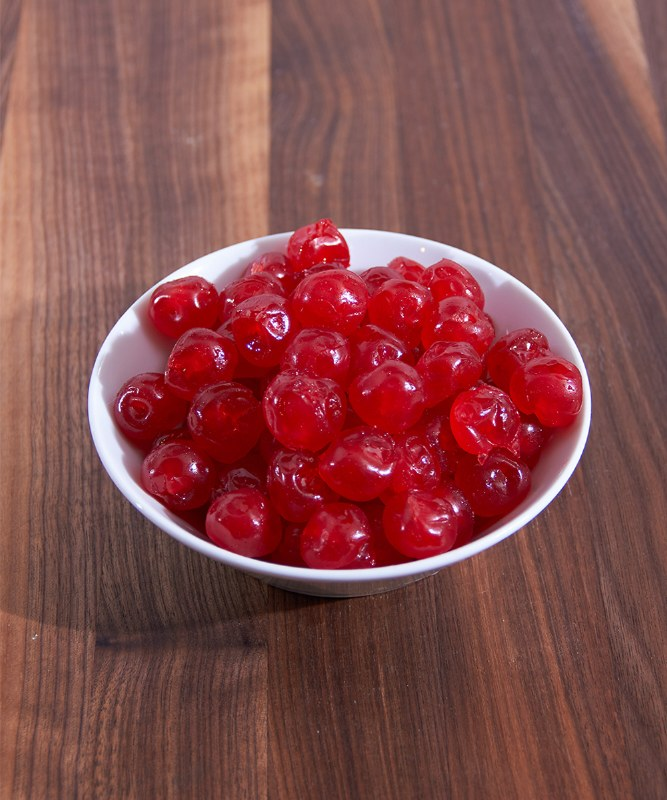 DeLaurenti Candied Red Cherries, 16oz