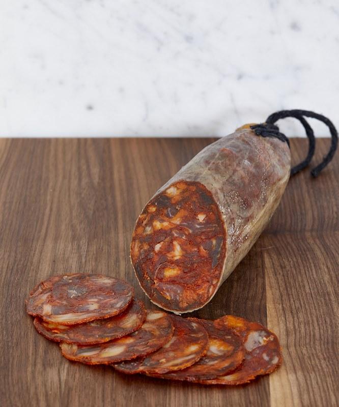Fermin Chorizo Iberico de Bellota, Sliced