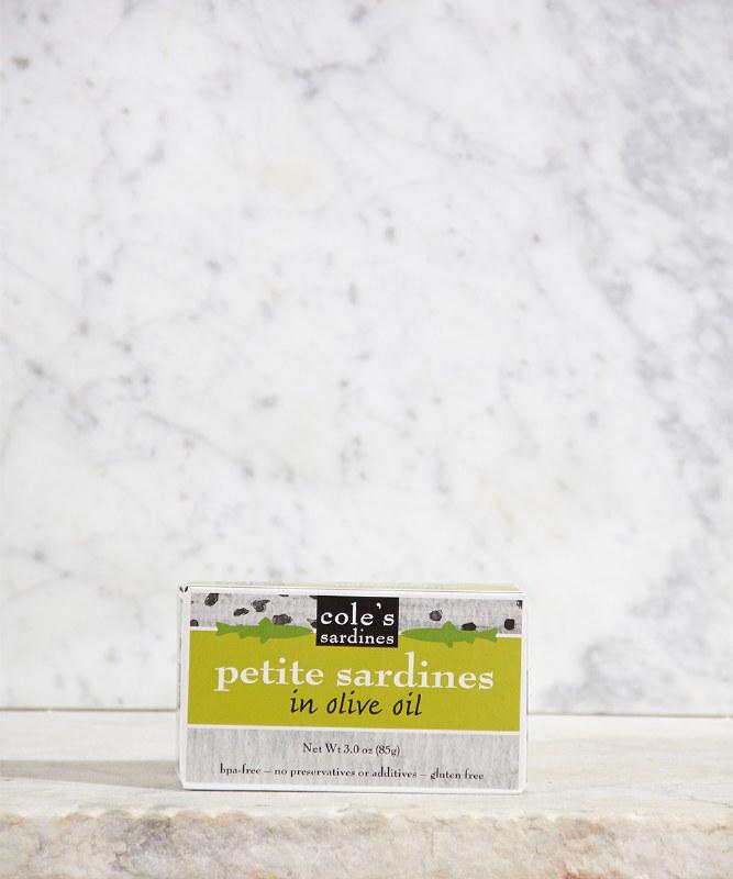 Cole's Petite Sardines in Olive Oil, 2oz