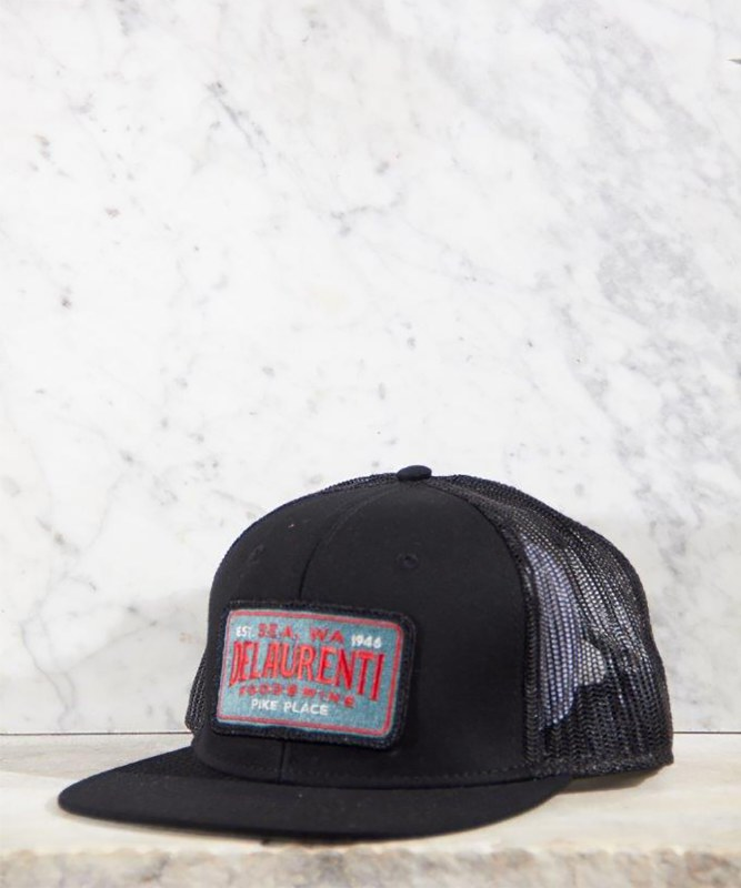 DeLaurenti Trucker Hat Black/Black