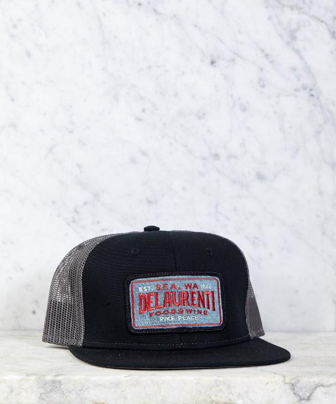 DeLaurenti Trucker Hat Black/Gray