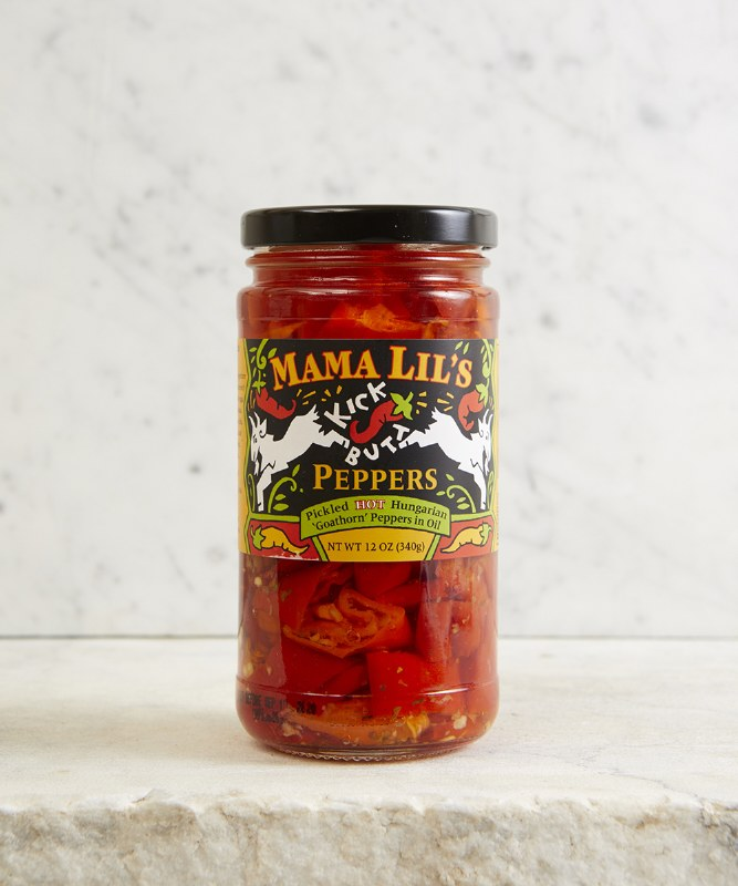 Mama Lil's Kick Butt Peppers in Oil, 12oz