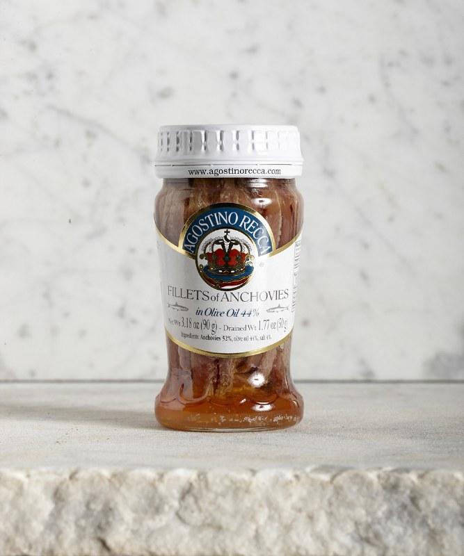 Agostino Recca Anchovies in Olive Oil, 100g