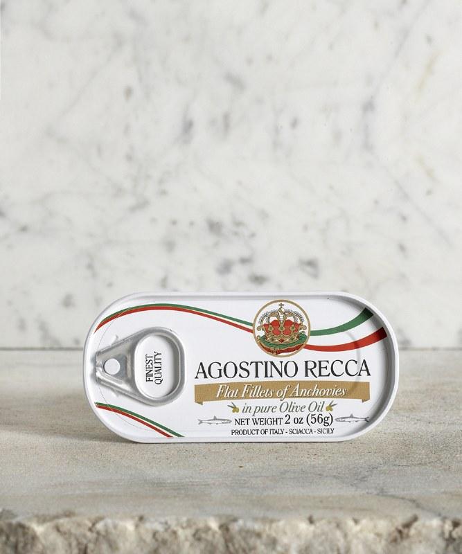 Agostino Recca Anchovies in Olive Oil, 56g