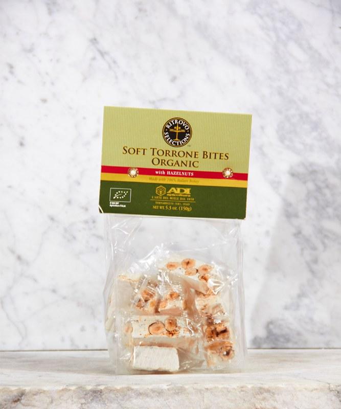 Ritrovo Organic Soft Torrone Bites w/Hazelnuts, 5oz