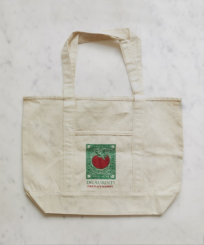 DeLaurenti Deluxe Canvas Tote Bag