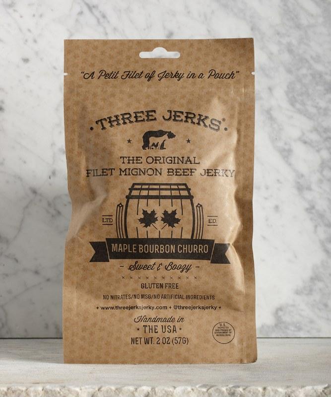 3 Jerks Maple Bourbon Filet Mignon Jerky, 2oz