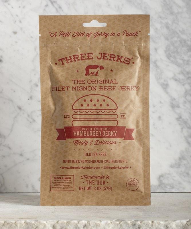 3 Jerks Hamburger Filet Mignon Jerky, 2oz
