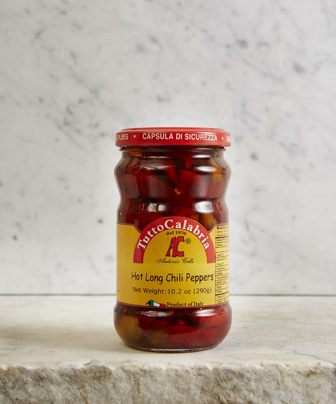 Tutto Calabria Hot Long Chili Peppers, 290g