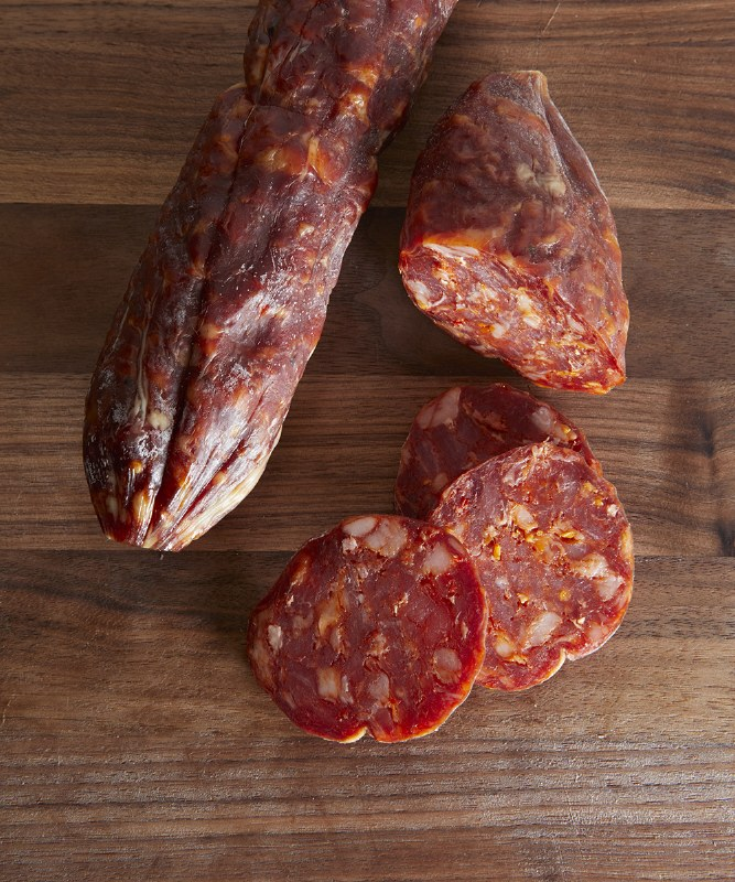 Alps Provisions Hot Soppressata, Half