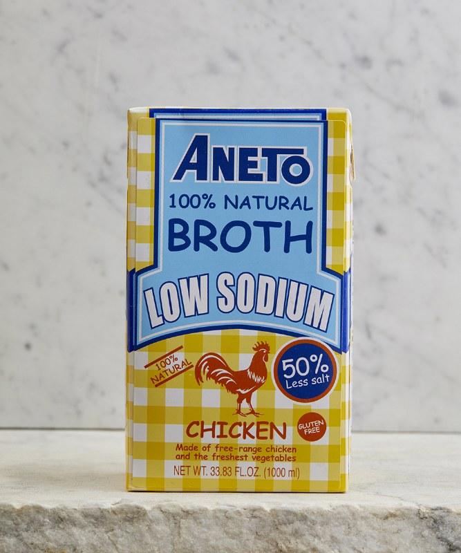 Aneto Low Sodium Chicken Broth, 1L