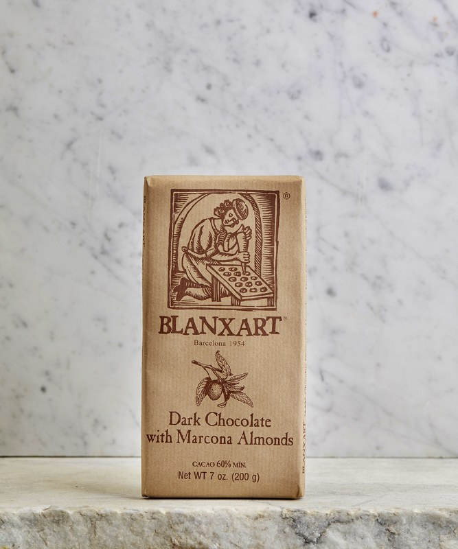 Blanxart Dark Chocolate w/Almonds, 200g