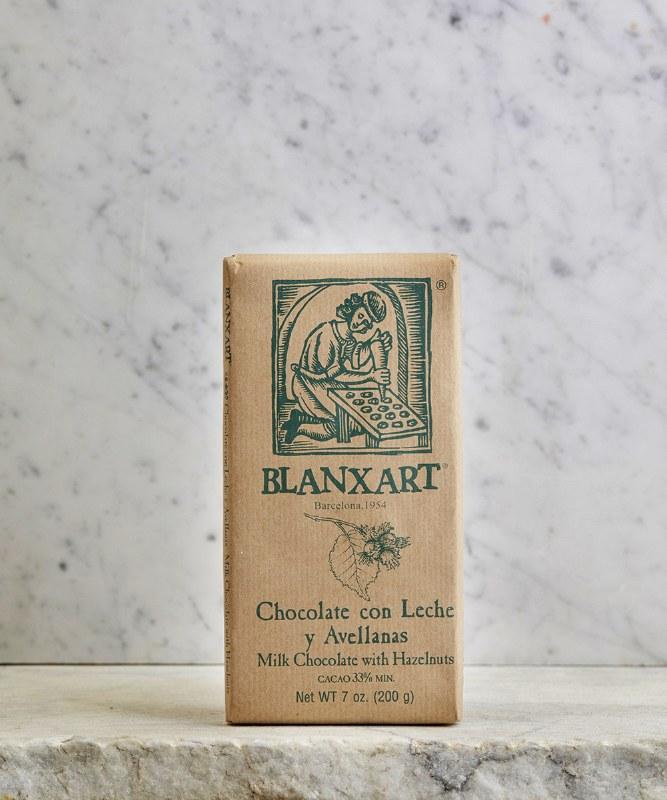 Blanxart Milk Chocolate w/Hazelnuts, 200g