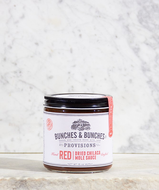 Bunches & Bunches Red Dried Chilaca Mole Sauce, 15 oz