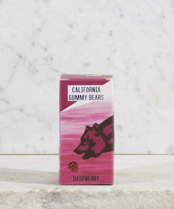 California Gummy Bears Raspberry, 4oz
