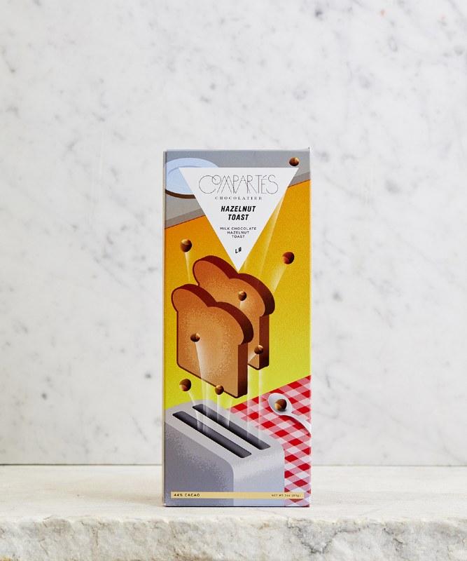 Compartes Hazelnut Toast Milk Chocolate, 3oz