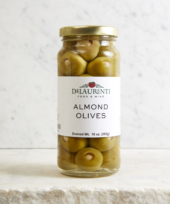DeLaurenti Almond Stuffed Olives, 10oz