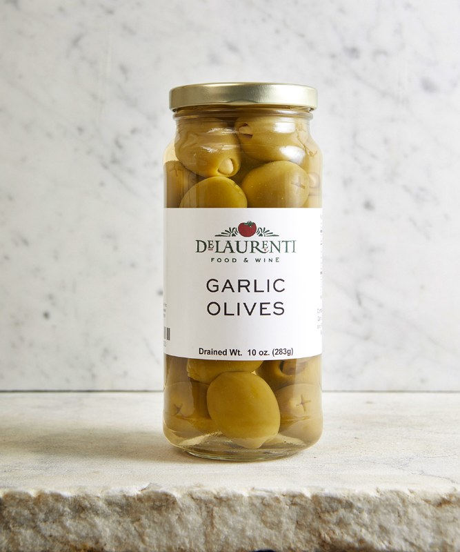 DeLaurenti Garlic Stuffed Olives, 10oz