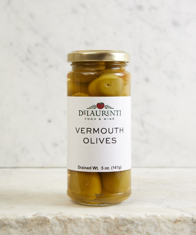 DeLaurenti Vermouth Olives, 5oz