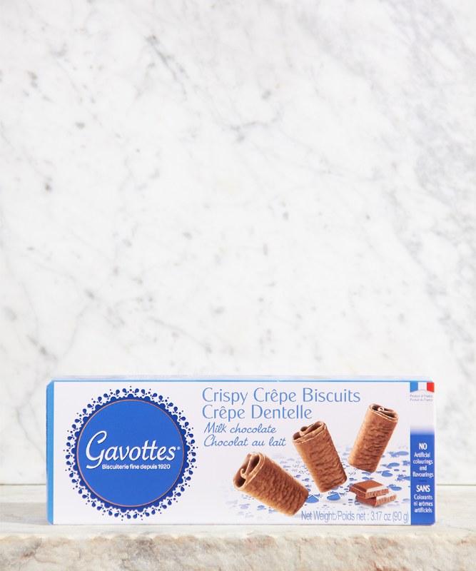 Gavottes Crispy Crepe Biscuits Milk Chocolate, 90g