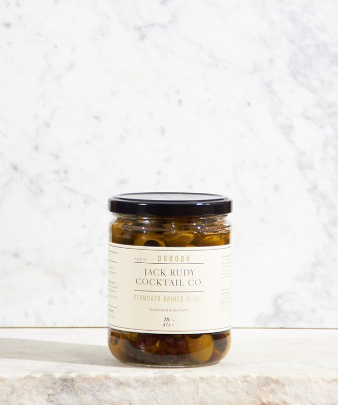 Jack Rudy Cocktail Co. Vermouth Brined Olives, 16oz