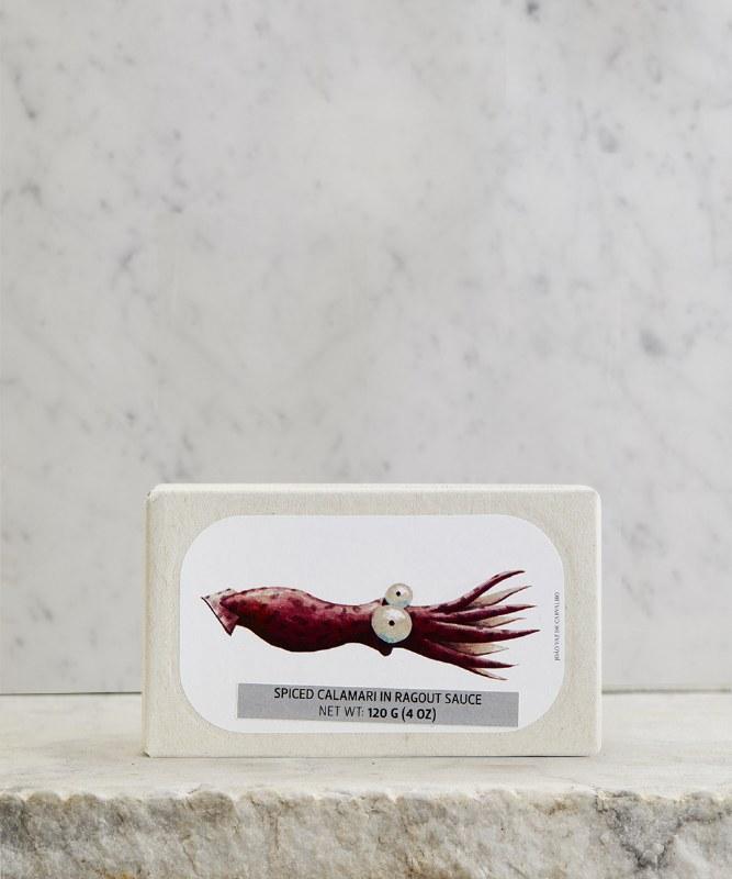 Jose GourmetSpiced Calamari in Ragout Sauce, 125g