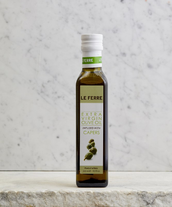 Le Ferre Caper Infused EVOO, 250ml