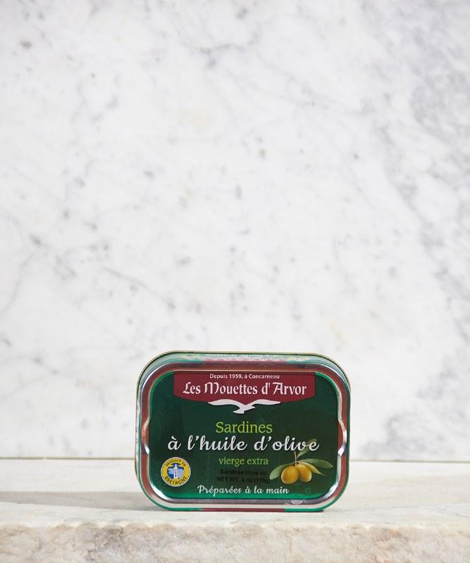 Les Mouettes d'Arvor Sardines in Extra Virgin Olive Oil, 115g