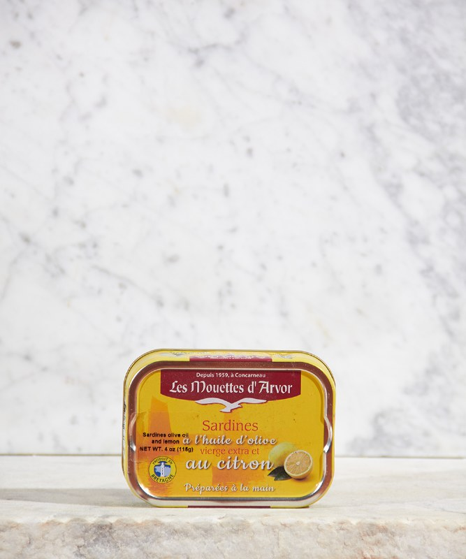 Les Mouettes d'Arvor Sardines in Extra Virgin Olive Oil and Lemon, 115g