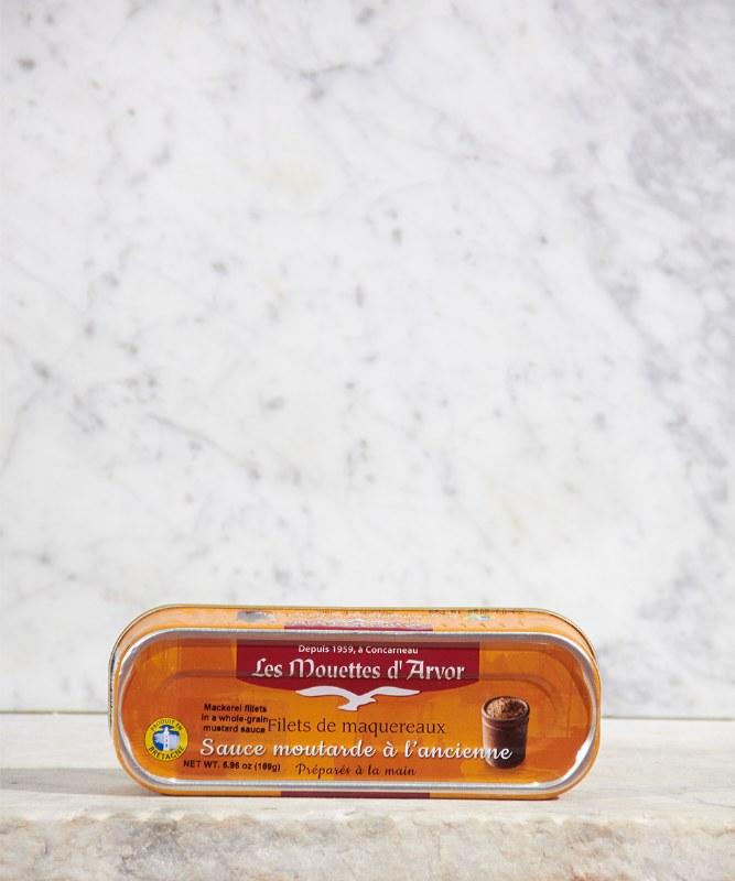 Les Mouettes d'Arvor Mackerel Fillets in Mustard Sauce, 169g