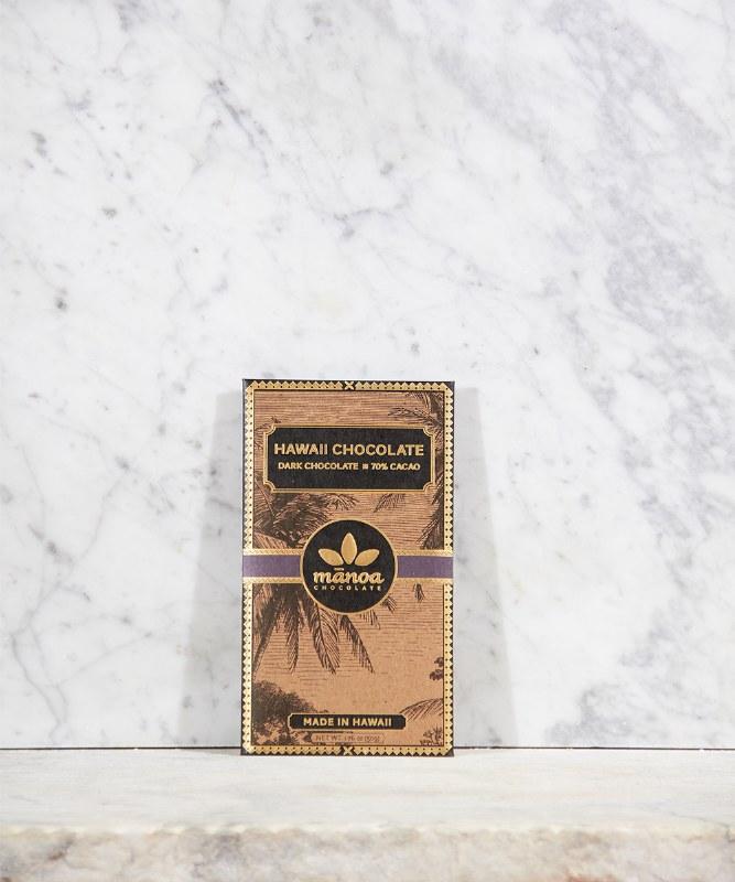 Manoa Hawaii Dark Chocolate 70% Cacao, 2oz