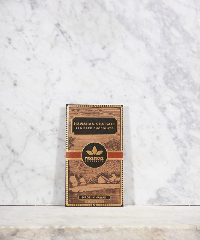 Manoa Hawaii Sea Salt Dark Chocolate 72% Cacao, 2oz