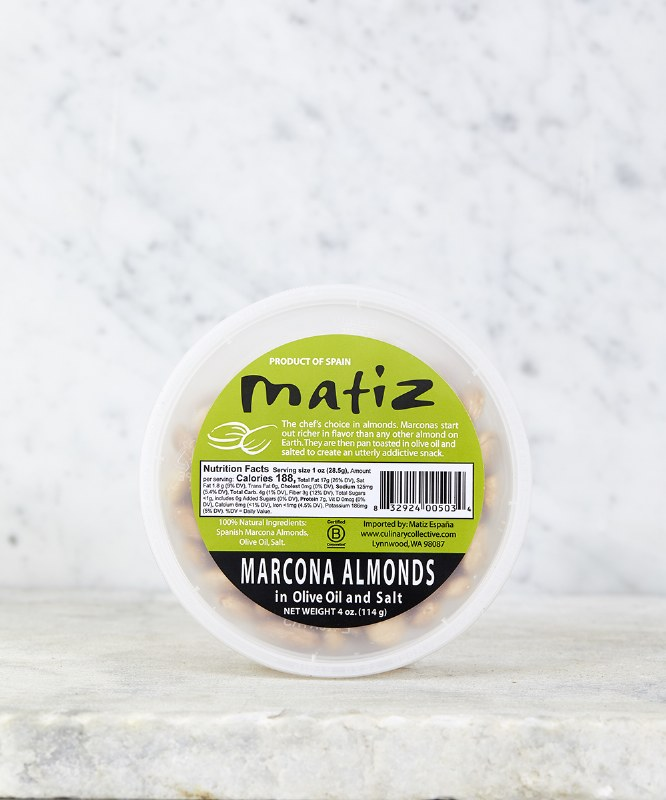 Matiz Marcona Almonds, 4oz
