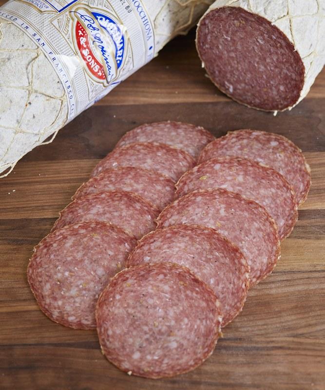 Molinari Finocchiona Salame, Sliced