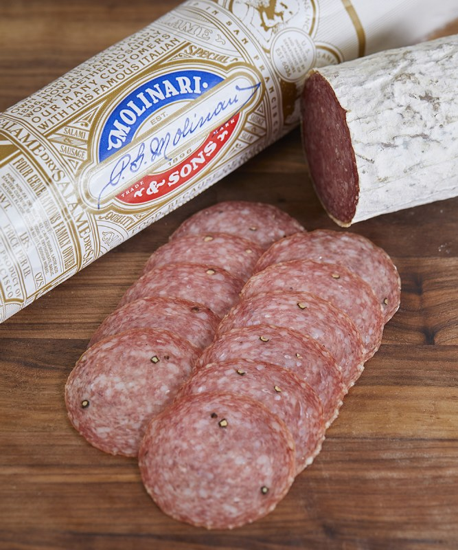 Molinari Italian Dry Salame, Sliced
